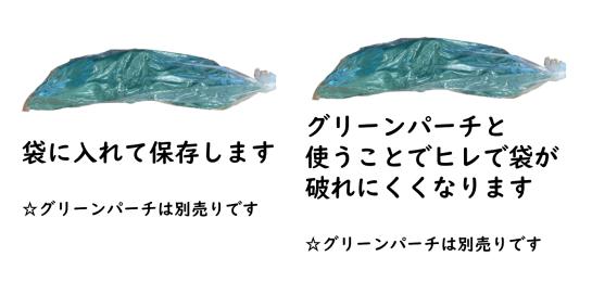 魚を包む緑の紙です